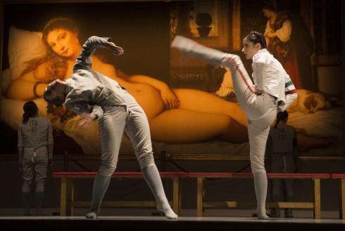 "La Veronal šokio trupės spetaklis ""Siena"" (chor. Marcos Morau). Nuotr. Dmitrijus Matvejevas."