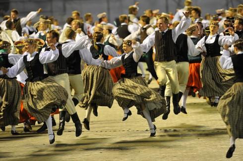Dainų ir šokių šventė Latvijoje. Organizatorių nuotrauka.